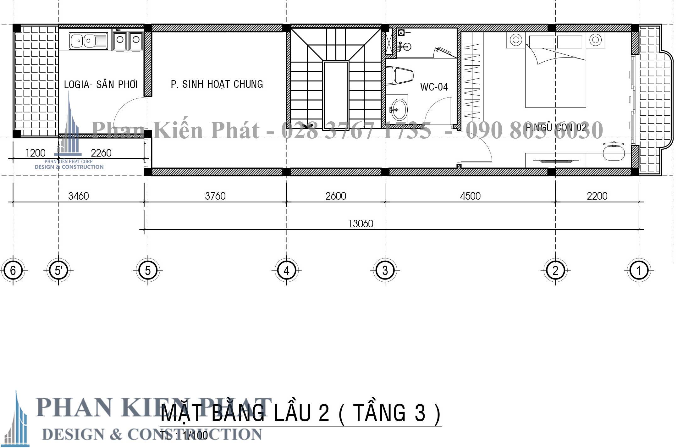 Bo Tri Mat Bang Tang 3 nhà phố 3 tầng tân cổ điển