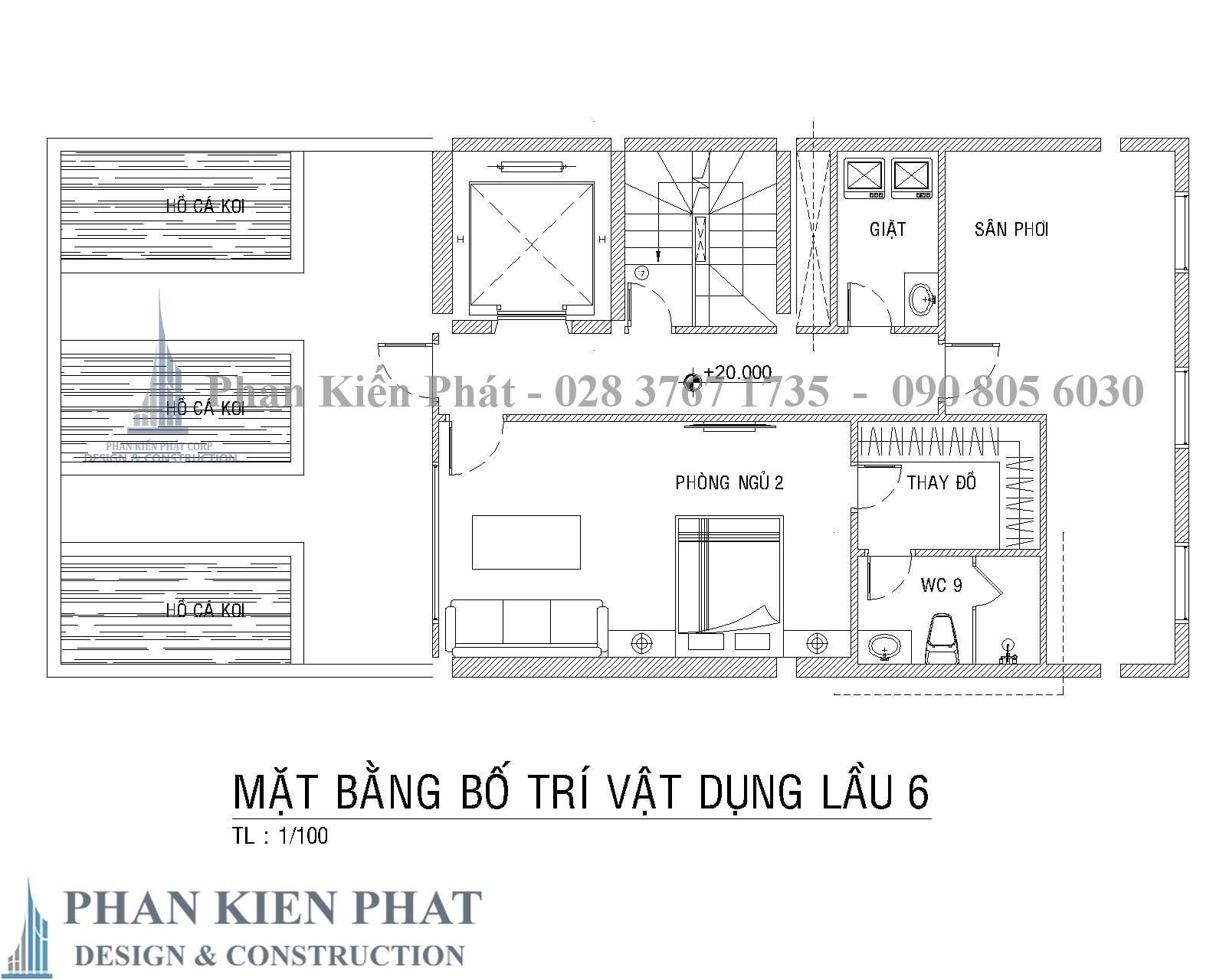 Mat Bang Bo Tri Vat Dung Lau 6 - biệt thự cổ điển kết hợp kinh doanh Quan 2