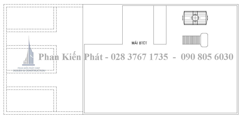 Mat Bang Bo Tri Vat Dung Mai - Mặt bằng lầu 6 mẫu biệt thự cổ đẹp Quan 2