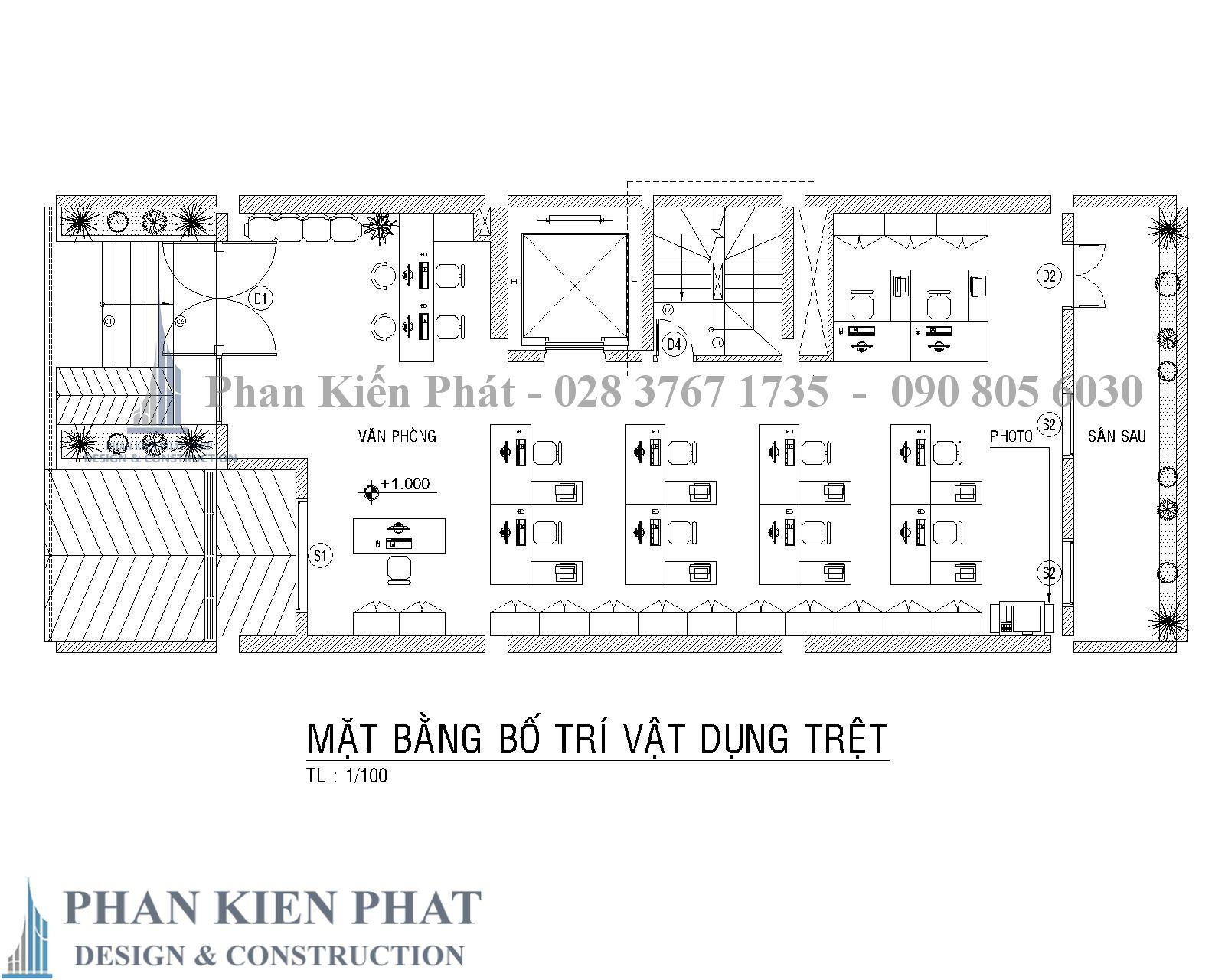 Mat Bang Bo Tri Vat Dung Tang Tret - biệt thự cổ điển kết hợp kinh doanh Quan 2