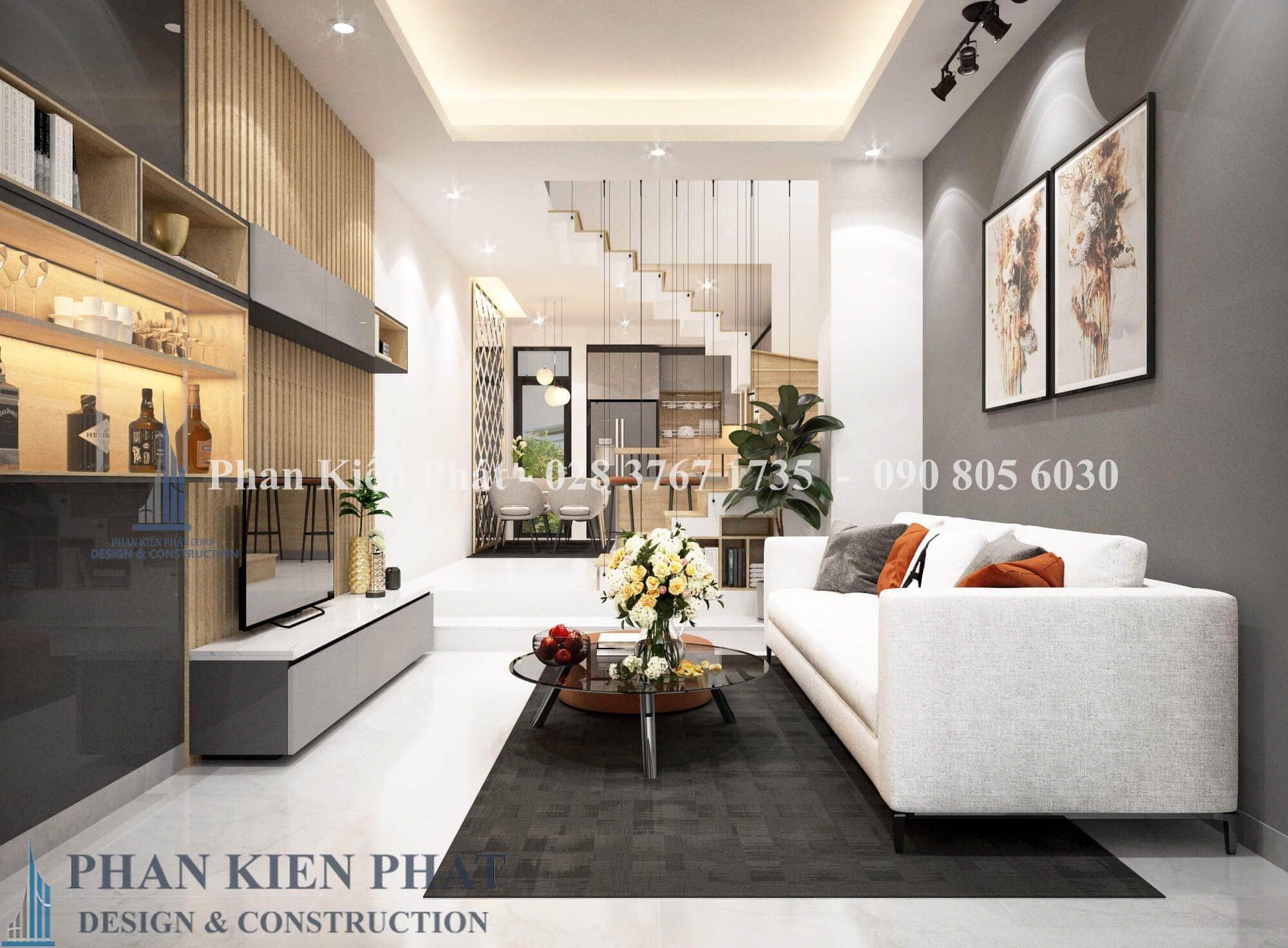 Noi That Phong Khach View 1 nhà phố 3 tầng tân cổ điển