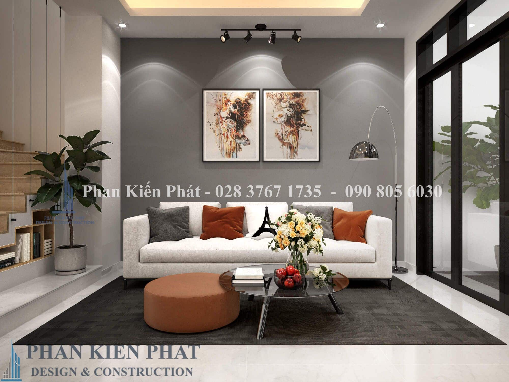 Noi That Phong Khach View 3 nhà phố 3 tầng tân cổ điển
