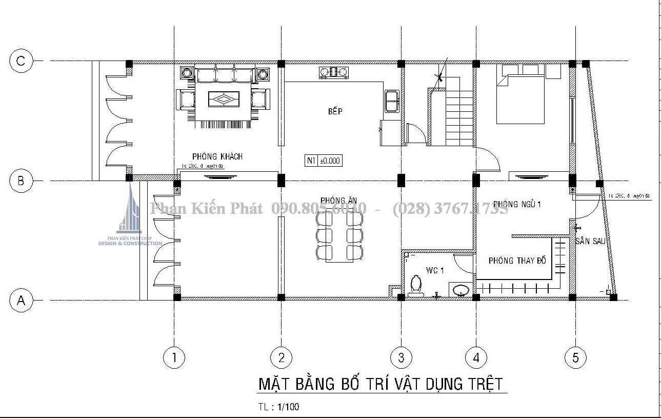 Bo Tri Mat Bang Tret Nha 1 Tret 2 Lau Mai Chu A Dep