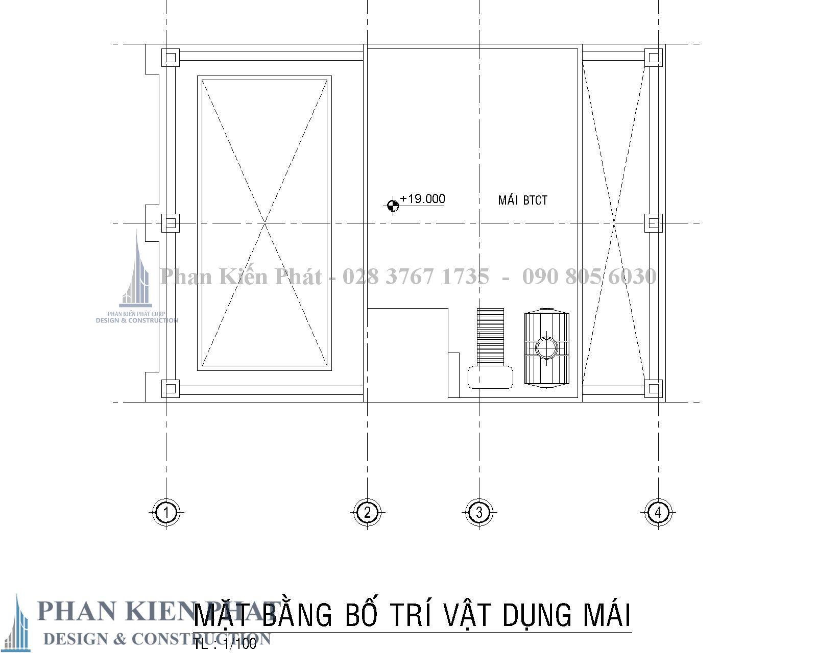 Mat Bang Bo Tri Vat Dung Mai Biet Thu Co Dien - Thiết kế biệt thự cổ điển