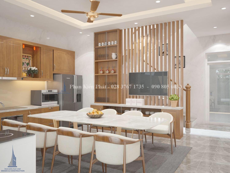 Noi That Phong Bep An 2 - mẫu thiết kế biệt thự 3 tầng