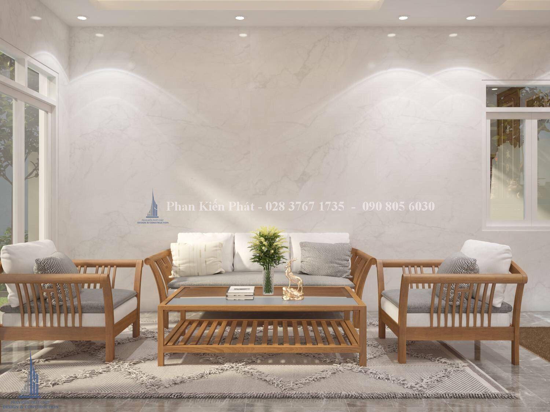 Noi That Phong Khach 2 - mẫu thiết kế biệt thự 3 tầng