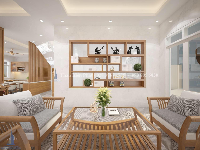 Noi That Phong Khach - mẫu thiết kế biệt thự 3 tầng