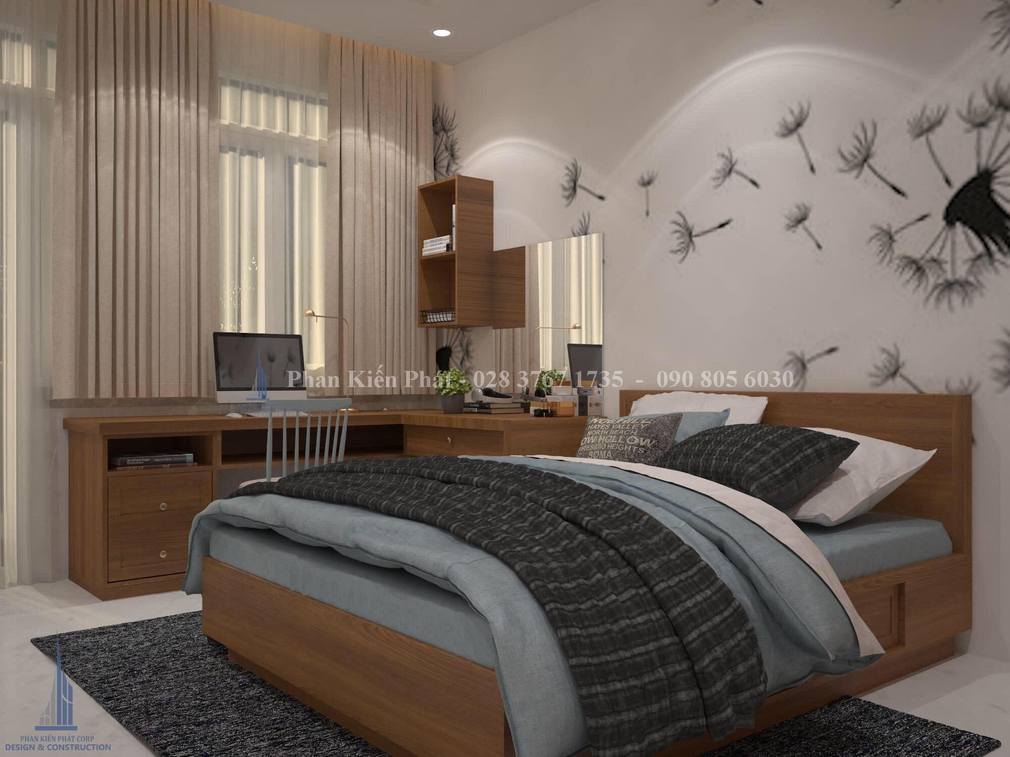 Noi That Phong Ngu 1 - mẫu thiết kế biệt thự 3 tầng