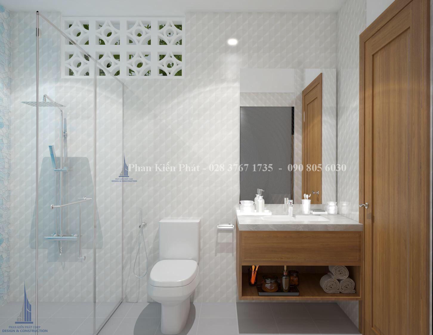 Noi That Phong Ve Sinh - mẫu thiết kế biệt thự 3 tầng