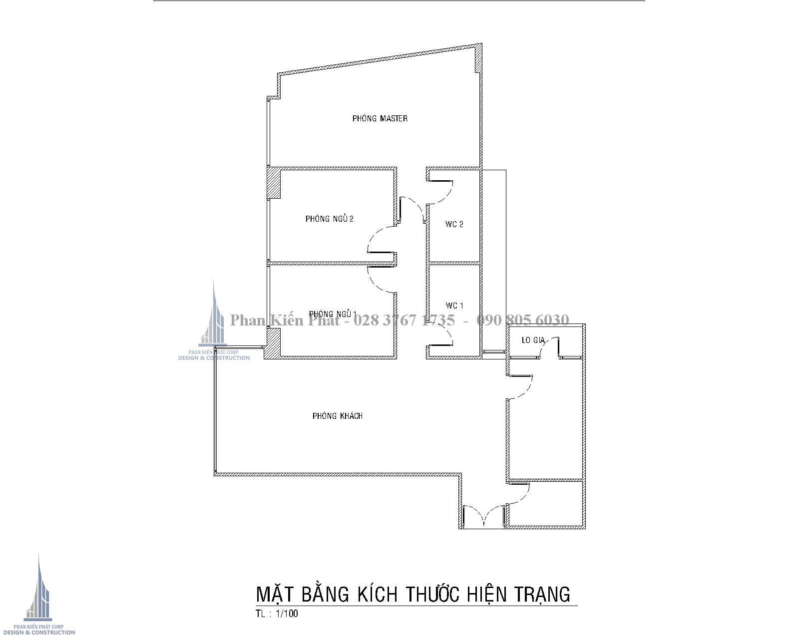 Can Ho Nguyen Huu Canh Mat Bang Kich Thuoc Hien Trang