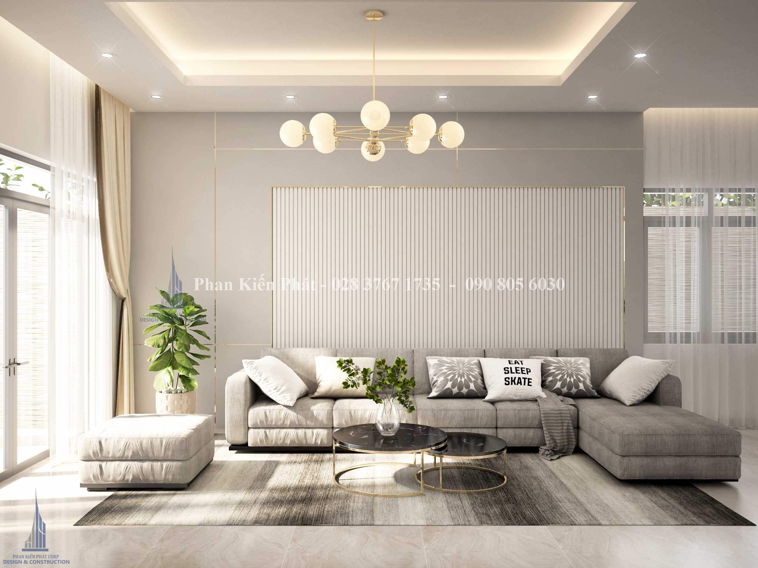 Thiet Ke Noi That Phong Khach Bep Biet Thu View 2 - mẫu biệt thự 3 tầng mái thái