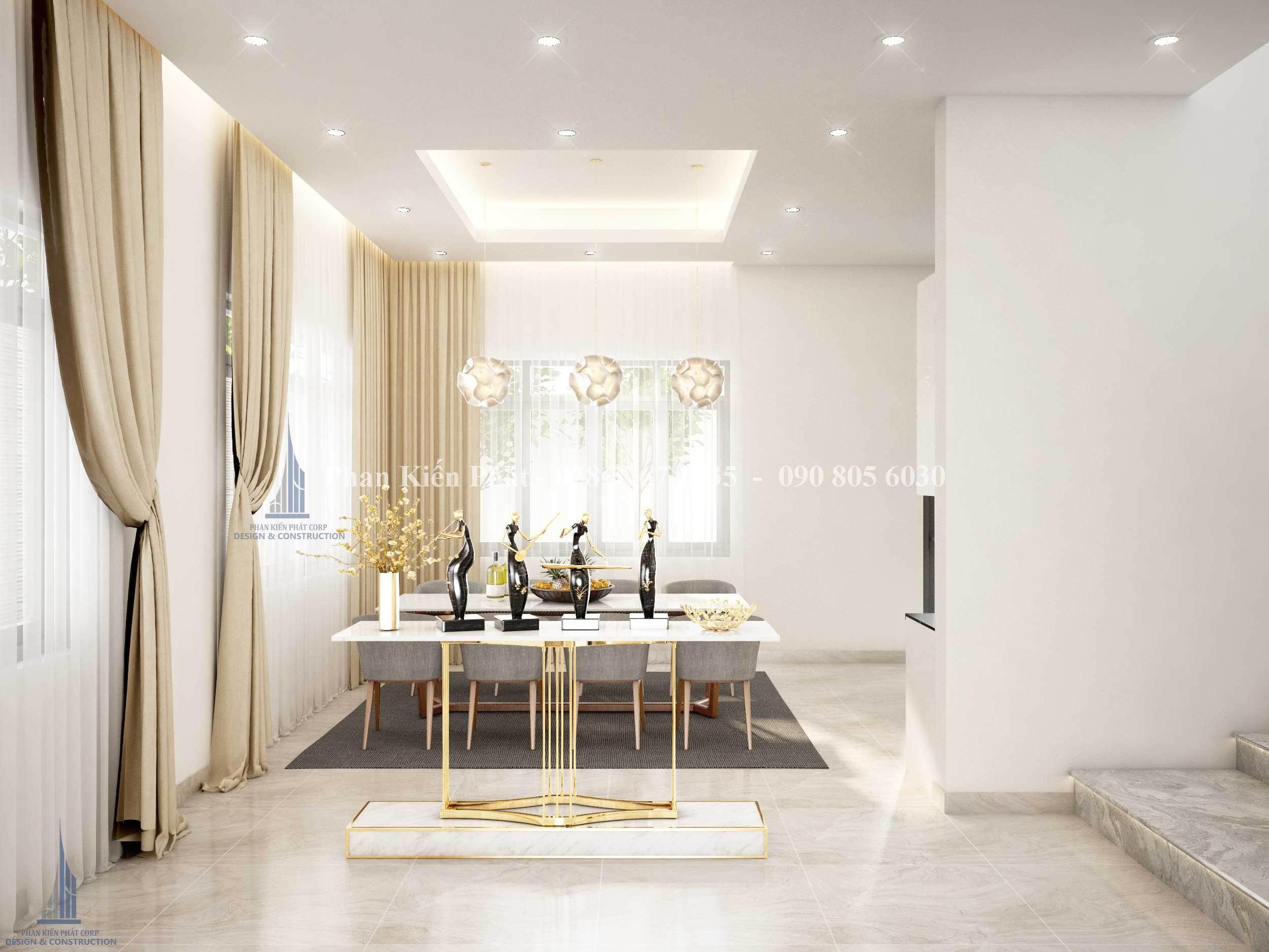 Thiet Ke Noi That Phong Khach Bep Biet Thu View 4 - mẫu biệt thự 3 tầng mái thái