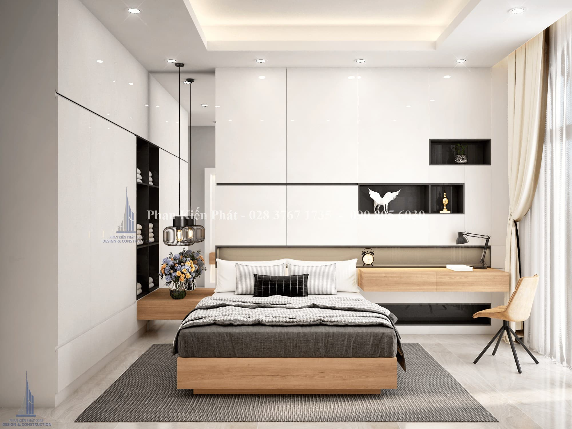 Thiet Ke Noi That Phong Ngu 2 View 1.png - mẫu biệt thự 3 tầng mái thái