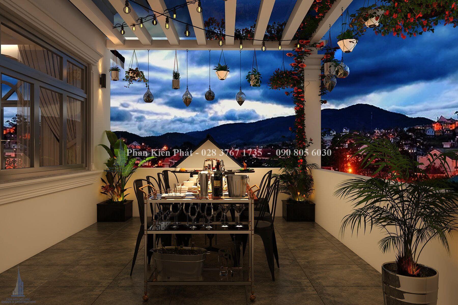 Thiet Ke Noi That Phong Tho View 2 - mẫu biệt thự 3 tầng mái thái