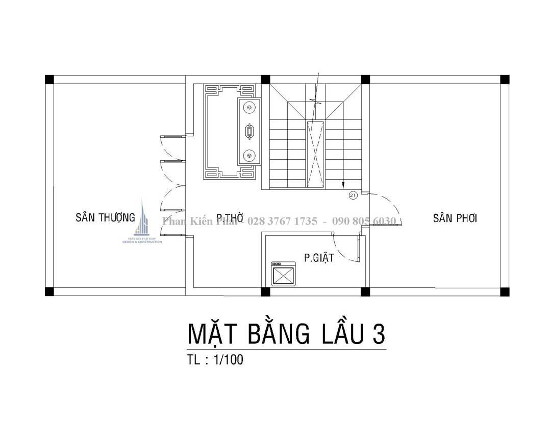 Bo Tri Mat Bang Lau 3 Nha Pho Tan Co Dien Anh Thien 1 - mẫu nhà phố tân cổ điển đẹp
