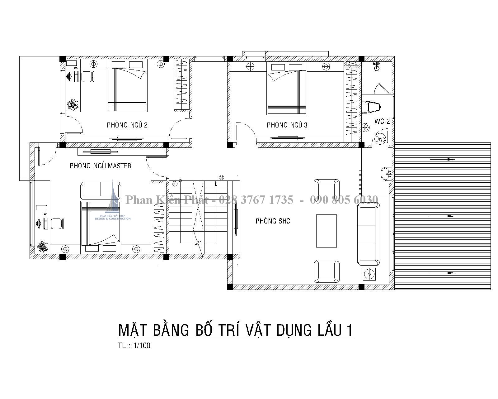 Mat Bang Bo Tri Vat Dung Lau 1 Biet Thu Vuon