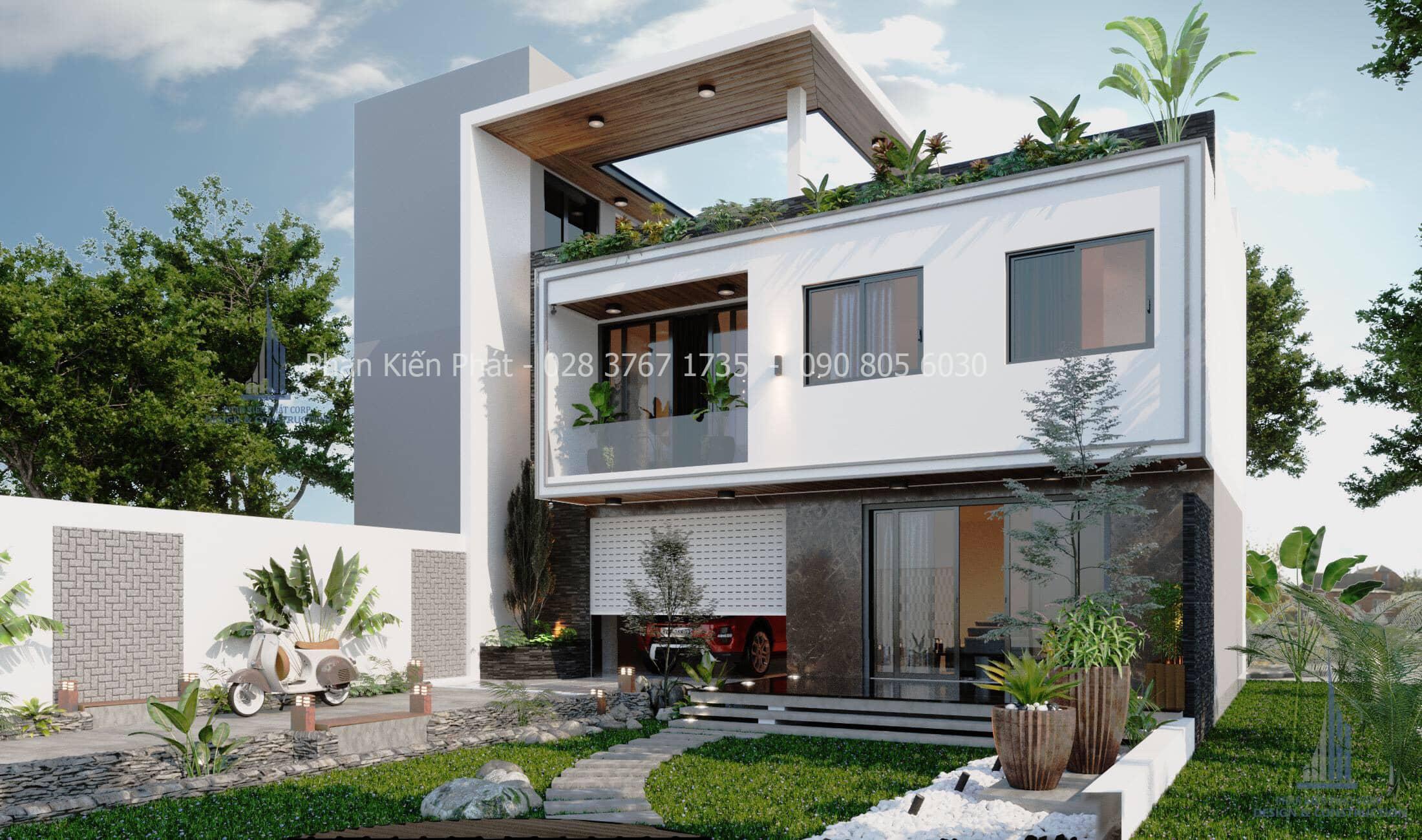 Thiet Ke Biet Thu San Vuon Hien Dai Dep 3 - mẫu biệt thự vườn 2 tầng