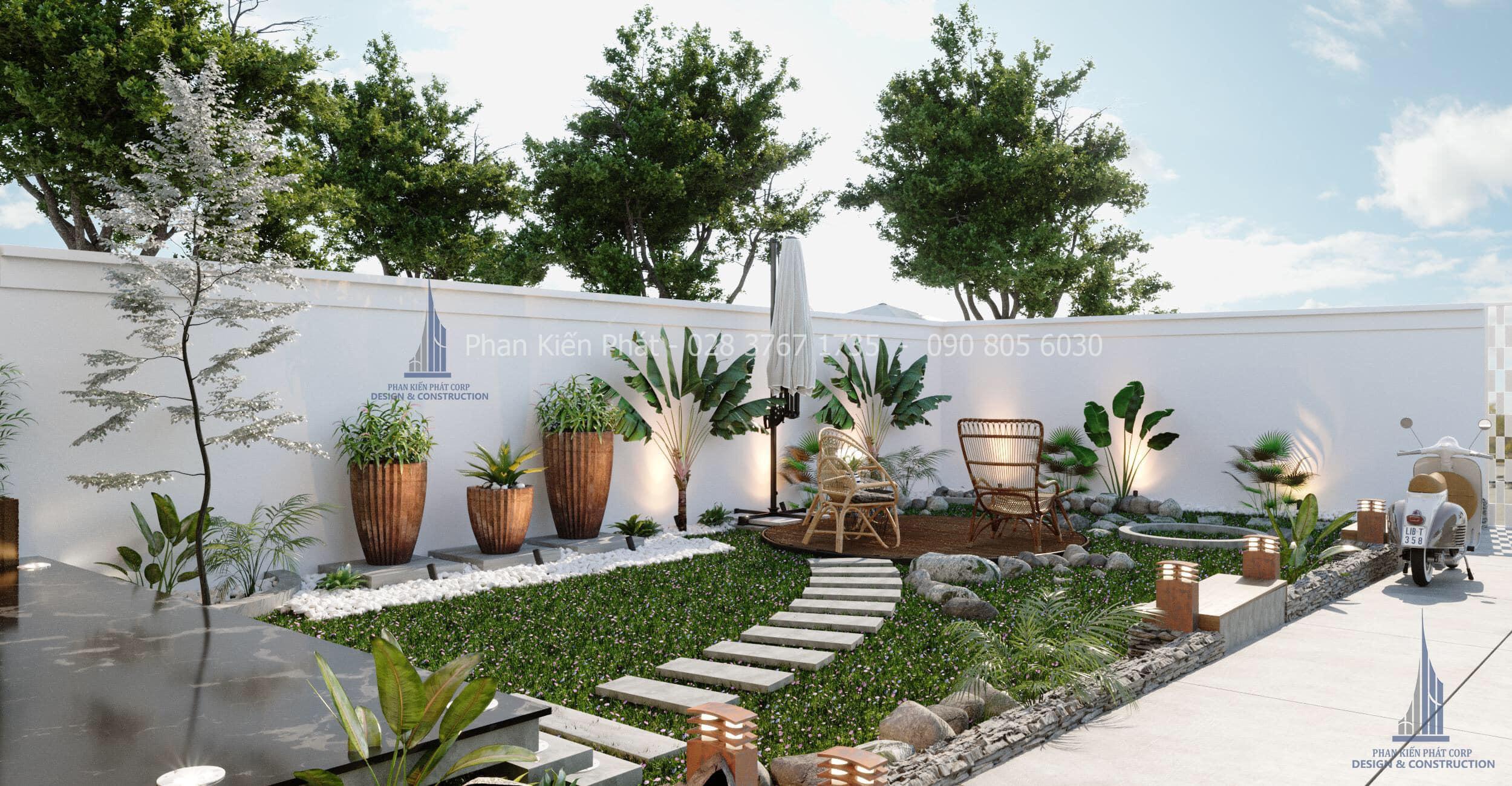Thiet Ke Biet Thu San Vuon Hien Dai Dep 5 - biệt thự vườn 2 tầng