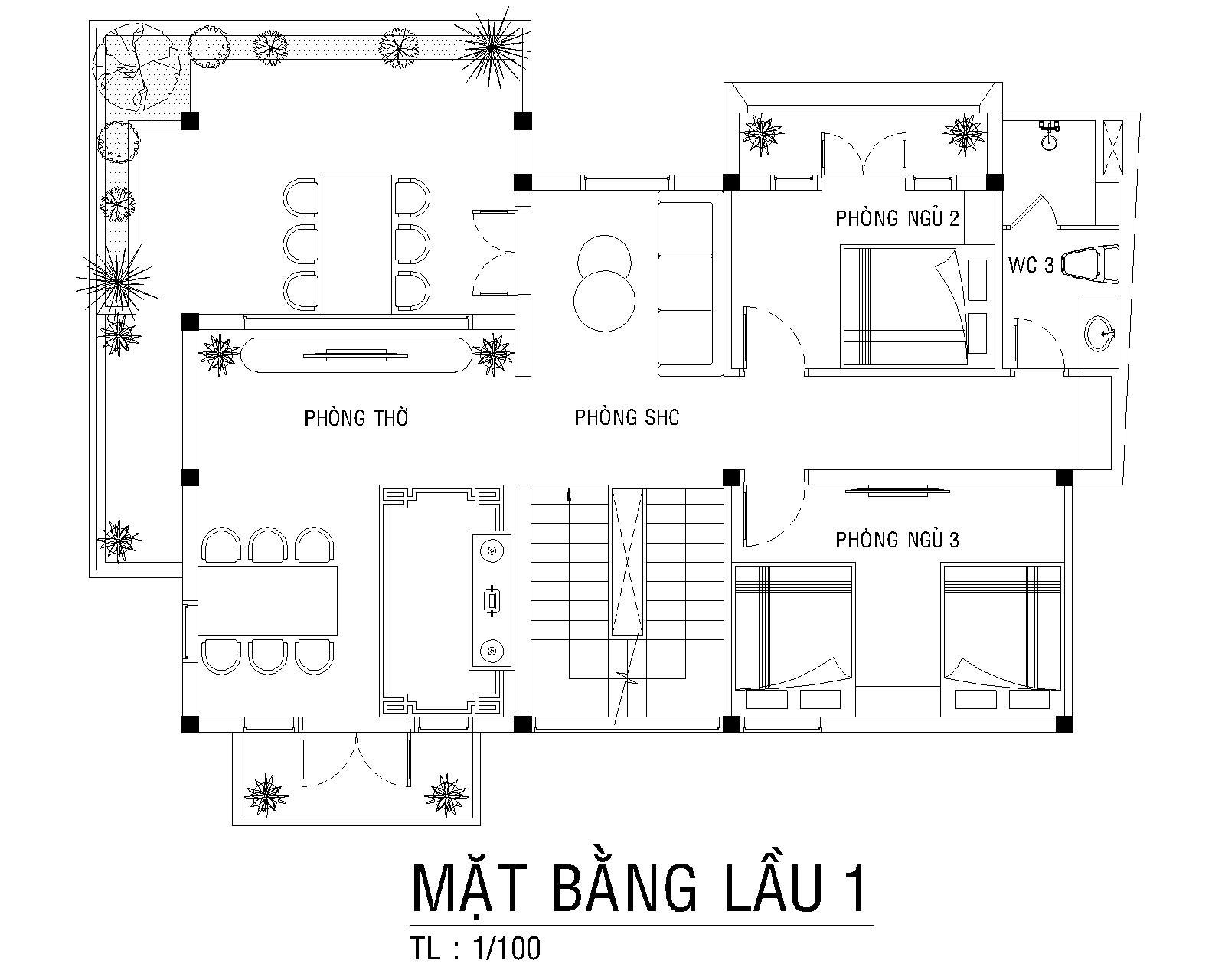 Mat Bang Lau 1 Biet Thu Vuon Chu Tu