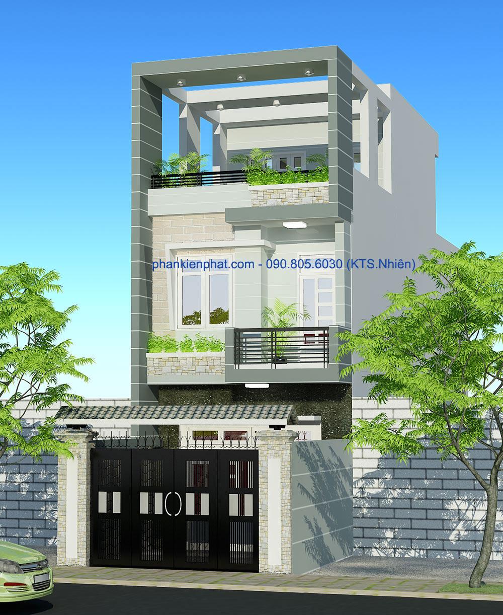 Nhà phố 3 tầng hiện đại 4x20m tại Gò Vấp